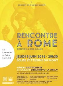 Concert «Rencontre à Rome» le jeudi 9 juin !