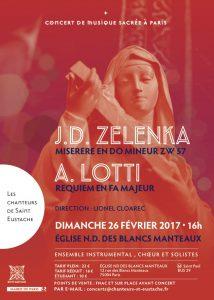 Notre prochain concert : LOTTI et ZELENKA (26.02.2016)