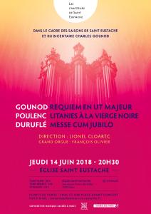 Concert  GOUNOD  POULENC  DURUFLE